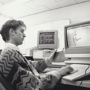 Werken met de computer jaren '90 Grafisch Lyceum Amsterdam